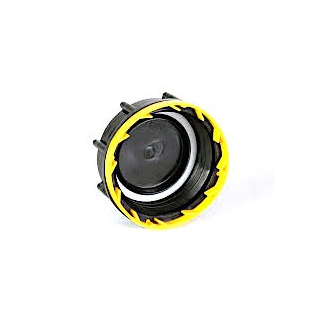 Screw cap DN60/61 Black/Yellow (DIN61)