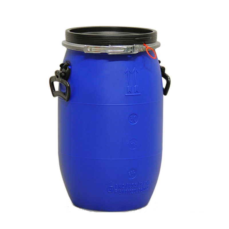 30L Open head drum - Blue - UN
