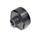 IBC Adapter 21/8 BSP with BSP Male thread (PE-HD)