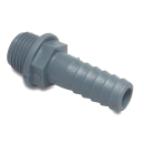 PP- Straight Hose Nozzle with Male thread - Grey