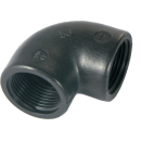 PP- Elbow 90° 2x 1 Female thread - Black