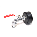 IBC Adapters 21/8 BSP + MT Brass Ball faucet with quick...