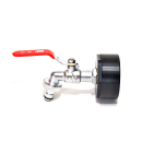 IBC Adapters 21/8 BSP + MT Brass Ball faucet with quick connector (PE-HD)