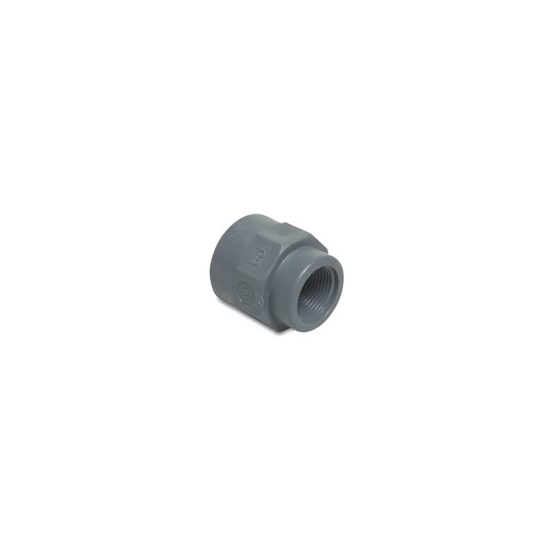 PP- Reducing socket with 2x Female thread - Grey
