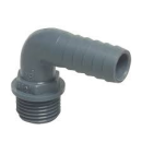 PP- Hose Nozzles 90° with Male thread - Grey