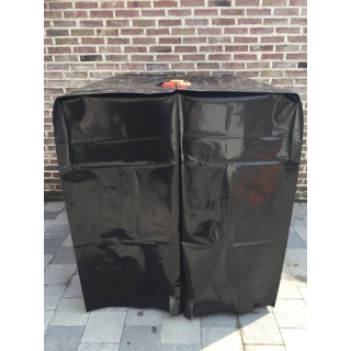 Black UV-cover for IBC container of 1000 liter